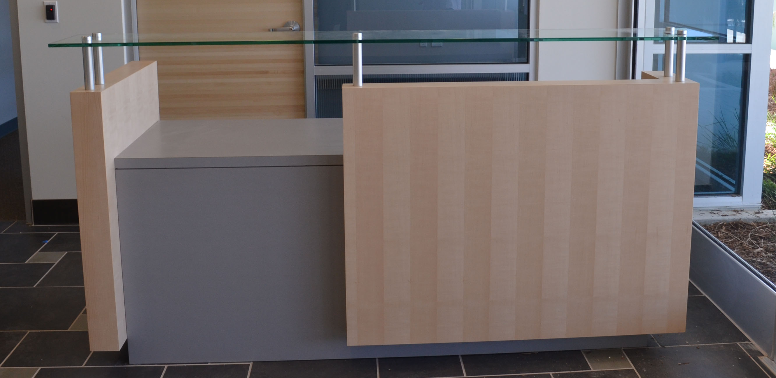 build a reception desk plans | Quick Woodworking Projects